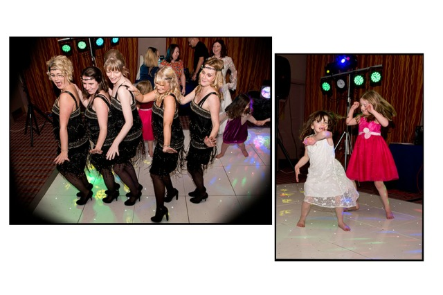 1920s Bridesmaids dresses and dancing -  the ladies had a great time enjoying the moment!