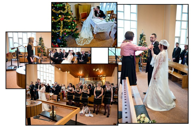 Here are some of the important moments in the wedding service