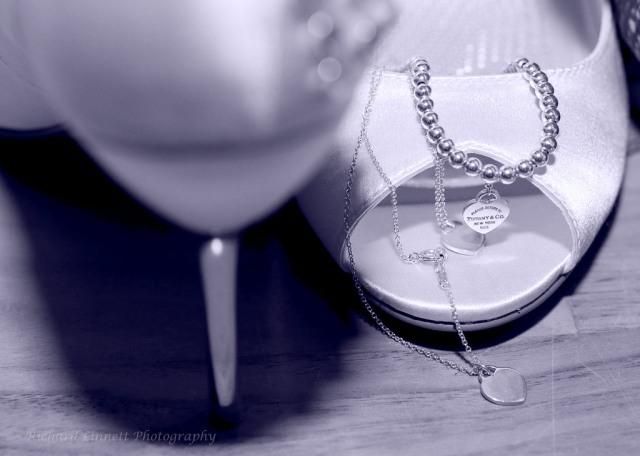 Wedding jewelry awaiting the bride