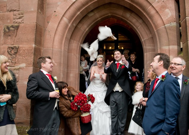 Releasing these birds adds a great sense of freedom after the rigours of the ceremony in the Great Hall