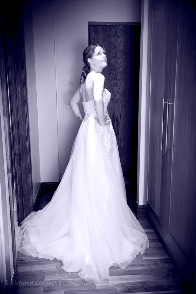 Bride beneath the spotlight