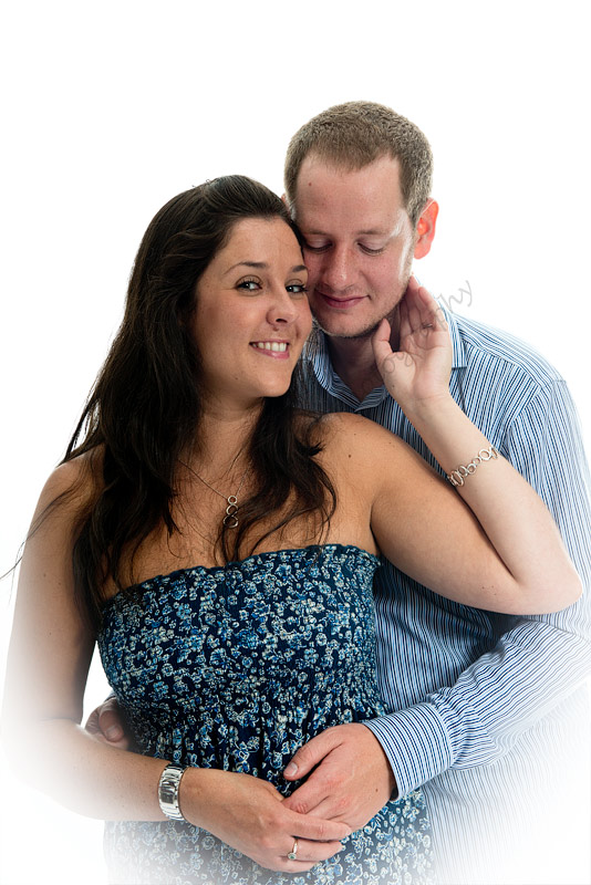 In the studio engaged couples can get to know their photographer during a shoot