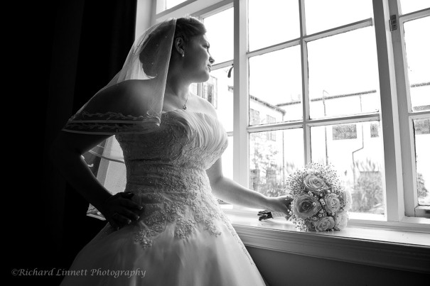 Bride in Autumn window light