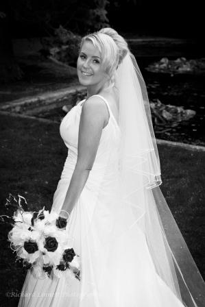 Smiling turning bride