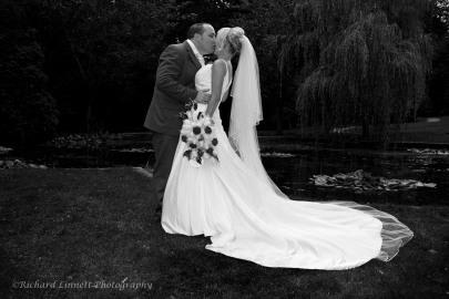 A simple but different newlywed kiss shot