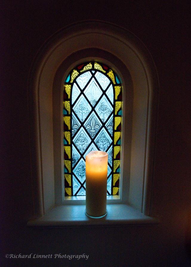 Window candles add romance