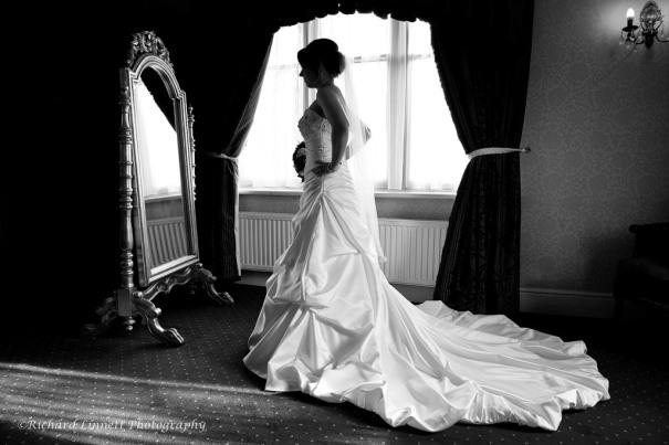 Black and white mirror shot Llindyr Hall