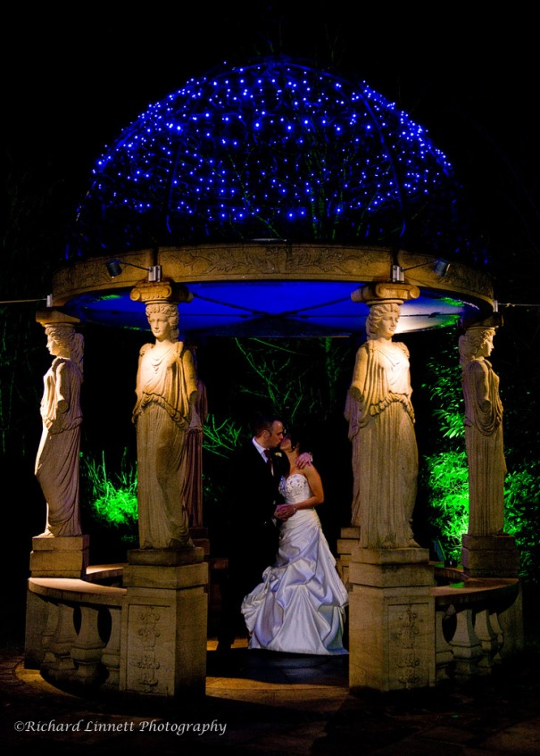 Llindyr Hall newlyweds with the graces
