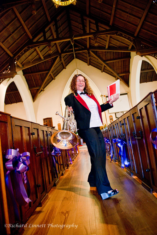 Haydock Brass Band member knows how to perform, pose and have fun!