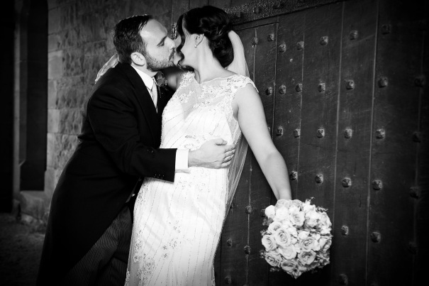 Kiss at the gate Peckforton Castle Peckforton Cheshire