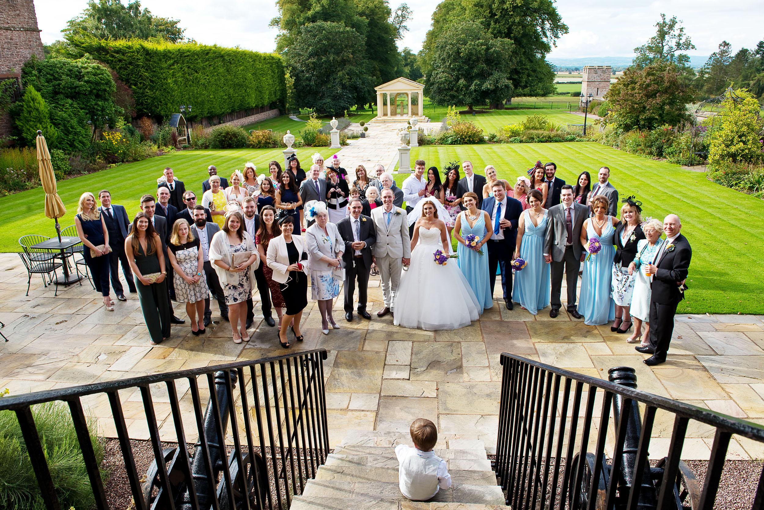 Rowton Castle Shropshire group photograph