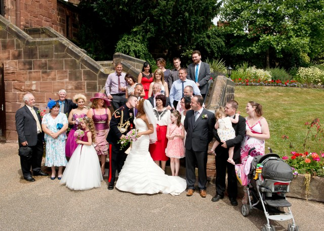 Family picture at Shrewsbury Castle Wedding.