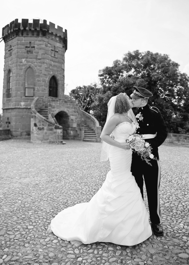 Laura's Tower, a romantic spot inside the grounds of Shrewsbury Castle.