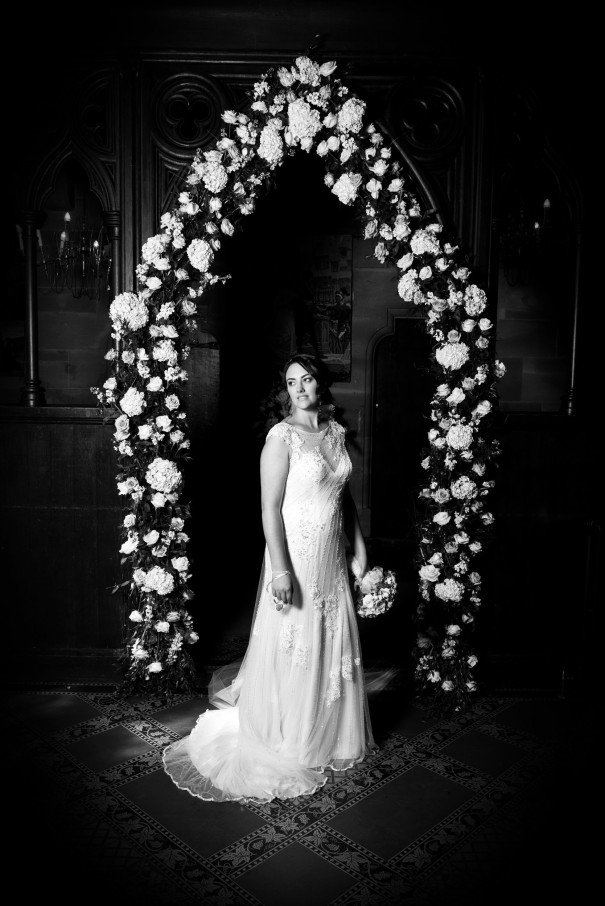 Flower surround a bride