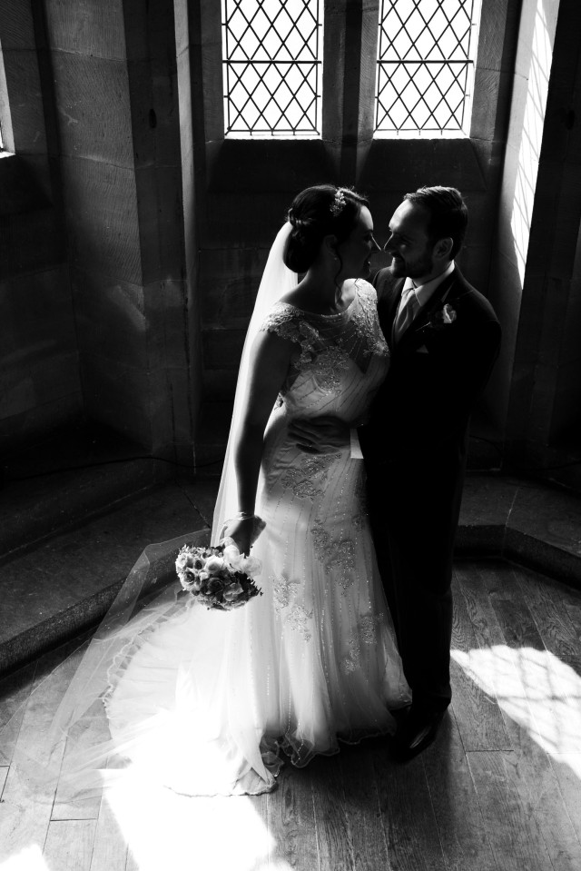 Silhouette Peckforton Castle newlywed image