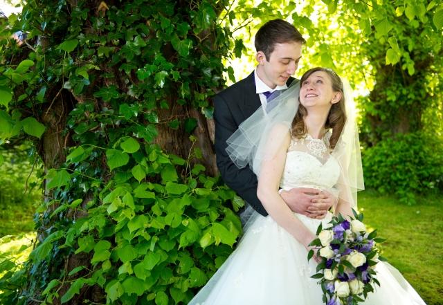 newlweds-bride-groom-beech-tree-richard-linnett-photography