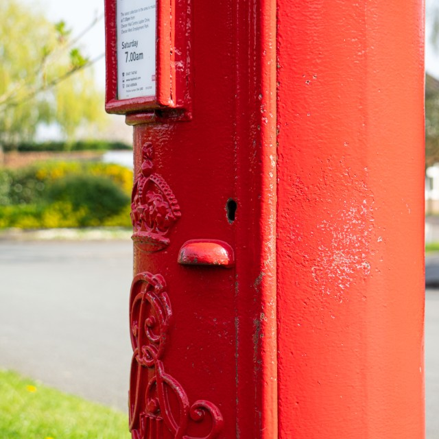 Lock on the side of red letterboxes in the UK>