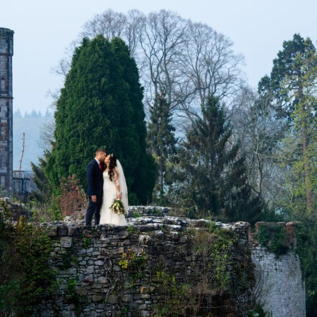 Ruthin Castle wedding.