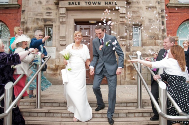 Sale Town Hall Registry Office wedding.