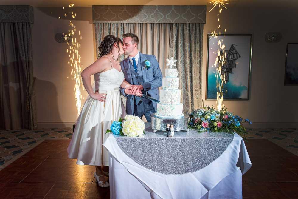 Abbots Well wedding cake cutting.