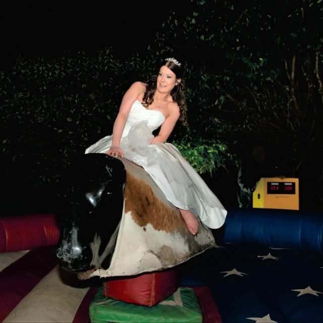 Bride does rodeo.