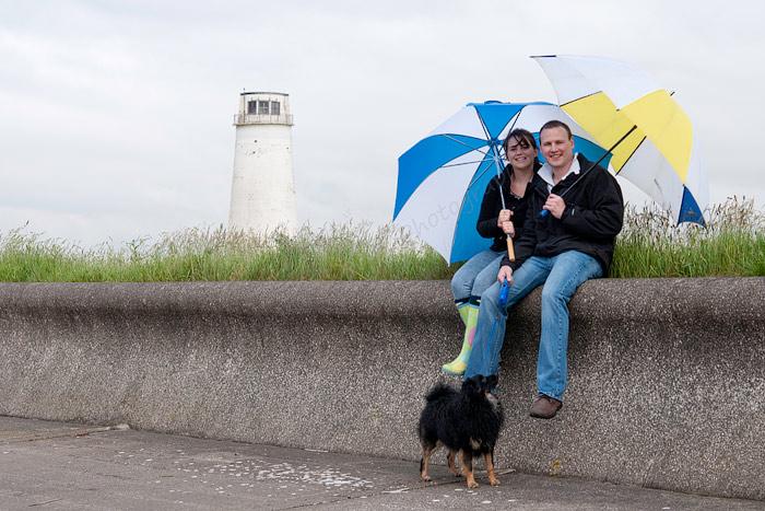 Engagement shoot Leasowe Lighthouse.