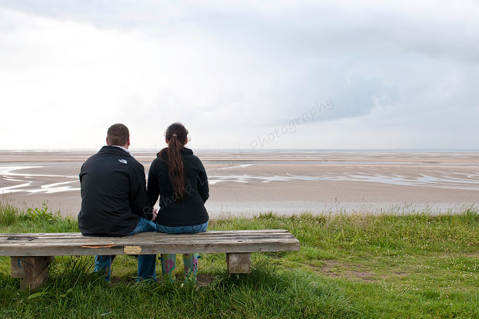 Engagement shoot on the Wirral shore at Leasowe lighthouse.